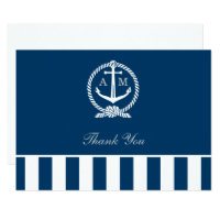 Flat Wedding Thank You Notes | Nautical Stripes Card