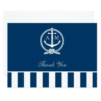 Flat Wedding Thank You Notes | Nautical Stripes Card