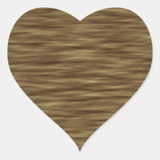 Flat wood nice cute Skin Case Heart Sticker