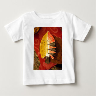 flat yellow and red fish with black stripes.jpg baby T-Shirt