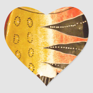flat yellow and red fish with black stripes.jpg heart sticker