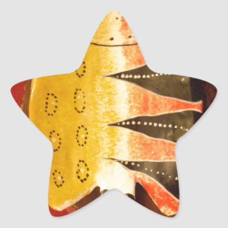 flat yellow and red fish with black stripes.jpg star sticker