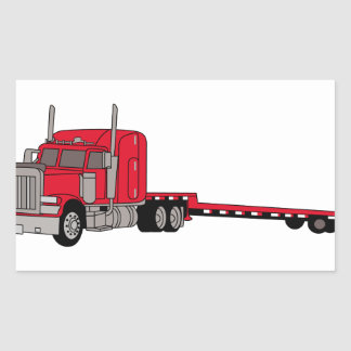 Flatbed Truck Rectangular Sticker