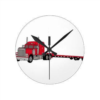 Flatbed Truck Round Clock