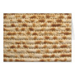 Flatbread de la galleta del Matzah Felicitación