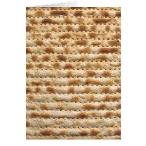 Flatbread de la galleta del Matzah Felicitacion