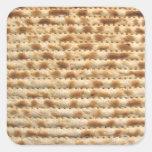 Flatbread de la galleta del Matzah Pegatina Cuadrada