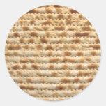 Flatbread de la galleta del Matzah Pegatina Redonda