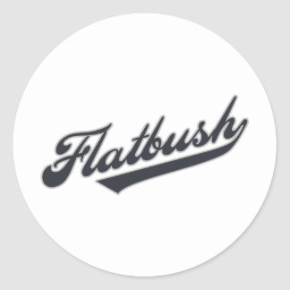 Flatbush Pegatina Redonda