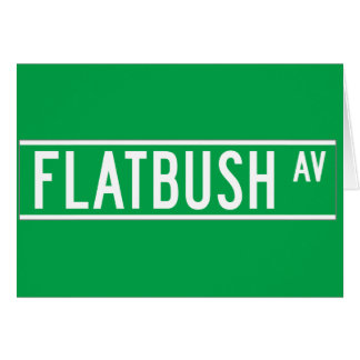 Flatbush sistema de pesos americano, placa de tarjeta de felicitación