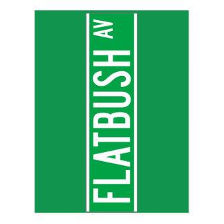 Flatbush sistema de pesos americano, placa de postales