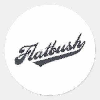 Flatbush Round Stickers