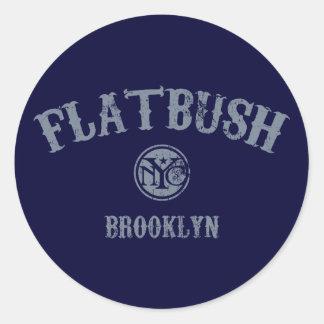 Flatbush Round Sticker