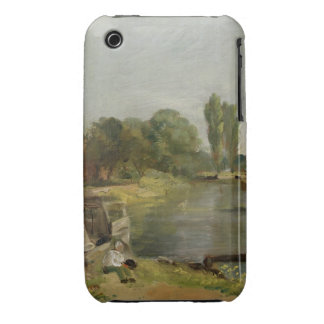 Flatford Lock, 1810-11 (oil on paper on canvas) Case-Mate iPhone 3 Cases