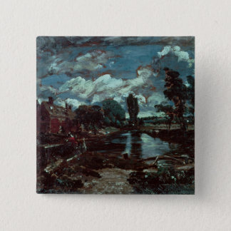 Flatford Mill from a Lock on the Stour, c.1811 Pinback Button