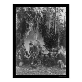Flathead Indian Pre-Christmas Gathering 1916 Poster