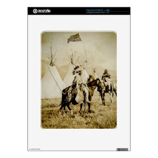 Flathead Indians Vintage Native American Warriors iPad Decal