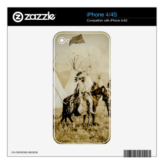 Flathead Indians Vintage Native American Warriors Skins For iPhone 4S