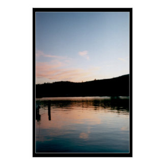 Flathead Lake at Sunset Poster