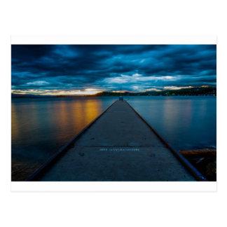 Flathead Lake Boat Dock Postcard