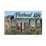 Flathead Lake, Montana - Large Letter Scenes Post Cards