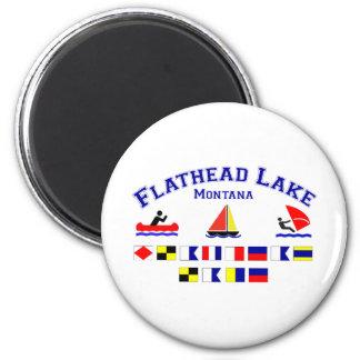 Flathead Lake MT Signal Flags Magnet
