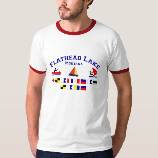 Flathead Lake MT Signal Flags T-Shirt