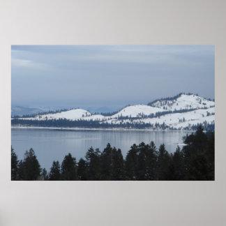 Flathead Lake Northwest Montana Poster