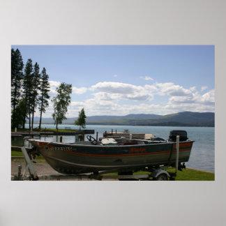 Flathead Lake Summer Poster