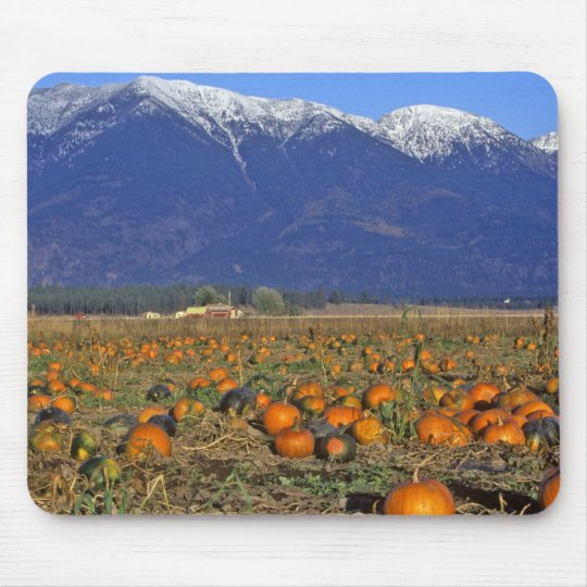 Flathead Valley Montana Pumpkin patch Mouse Pad