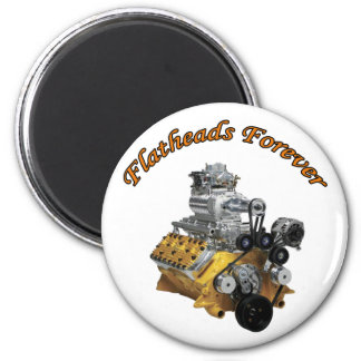 Flatheads Forever 2 Inch Round Magnet