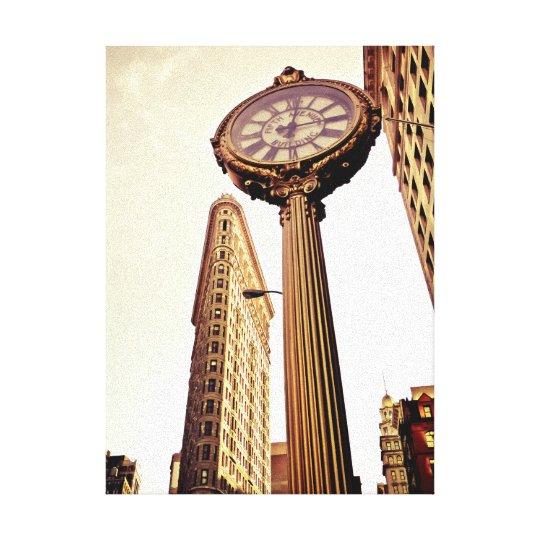 Flatiron Building and 5th Avenue Building Clock Canvas Print