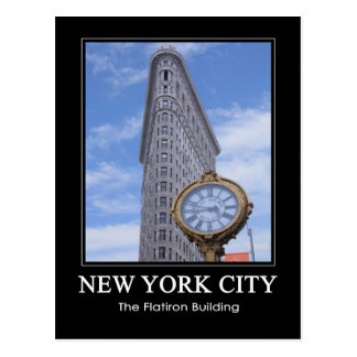 Flatiron Building and Clock 1C Postcard