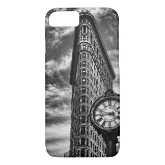 Flatiron Building and Clock in Black and White 1C2 iPhone 7 Case