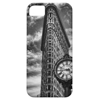 Flatiron Building and Clock in Black and White 1C2 iPhone SE/5/5s Case