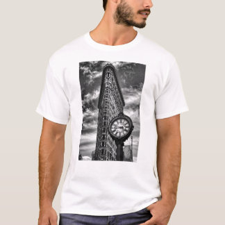 Flatiron Building and Clock in Black and White 2 T-Shirt