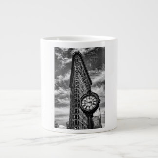 Flatiron Building and Clock in Black and White Giant Coffee Mug