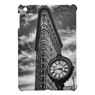 Flatiron Building and Clock in Black and White iPad Mini Case
