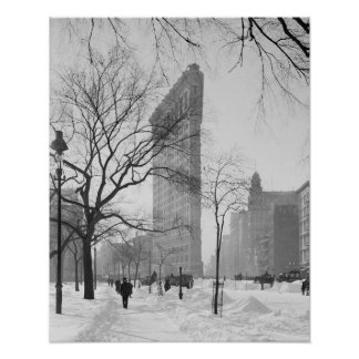 Flatiron Building in Winter, 1905 Posters