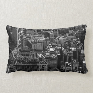 Flatiron Building Landscape Photo in NYC Lumbar Pillow