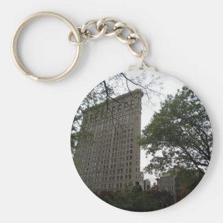 Flatiron Building, New York 2011 Basic Round Button Keychain