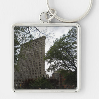 Flatiron Building, New York 2011 Silver-Colored Square Keychain