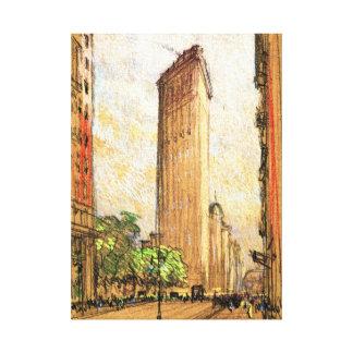 Flatiron Building New York City 1904 Canvas Print