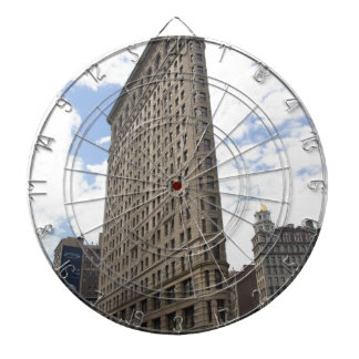 Flatiron Building New York  City Dartboard With Darts