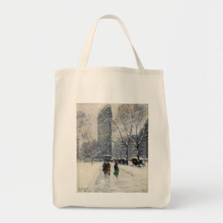 FLATIRON BUILDING NEW YORK CITY GROCERY TOTE BAG