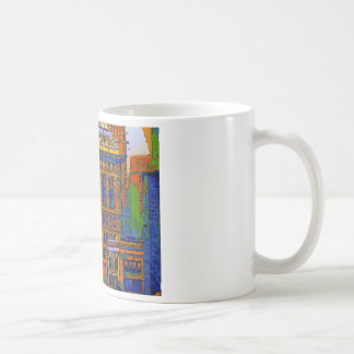 Flatiron Building Rear View - Psychedelic Style Coffee Mug