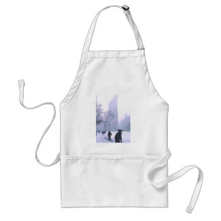 Flatiron Building Snow Storm NeW York Adult Apron