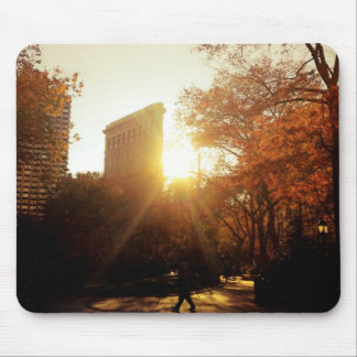 Flatiron Building Sunset in New York City Mouse Pad