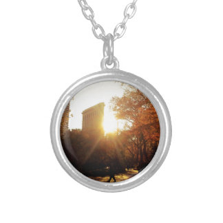 Flatiron Building Sunset in New York City Necklaces