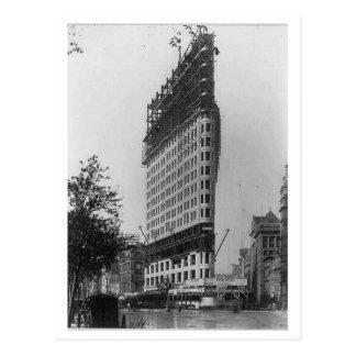 Flatiron Building Under Construction, New York Cit Postcard
